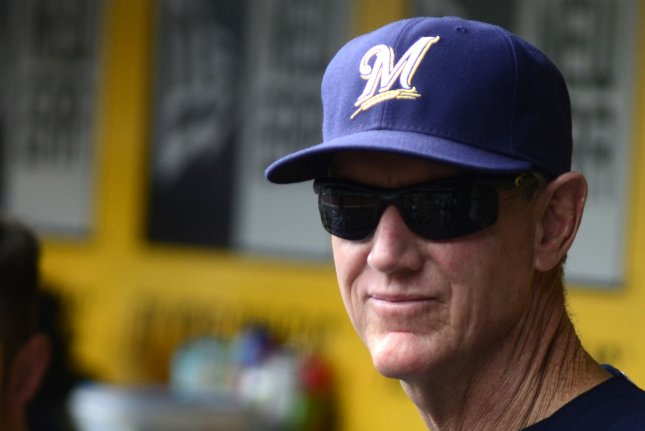 Former Milwaukee Brewers manager Ron Roenicke joined the Boston Red Sox organization in 2018 as the team's bench coach. File Photo by Archie Carpenter/UPI