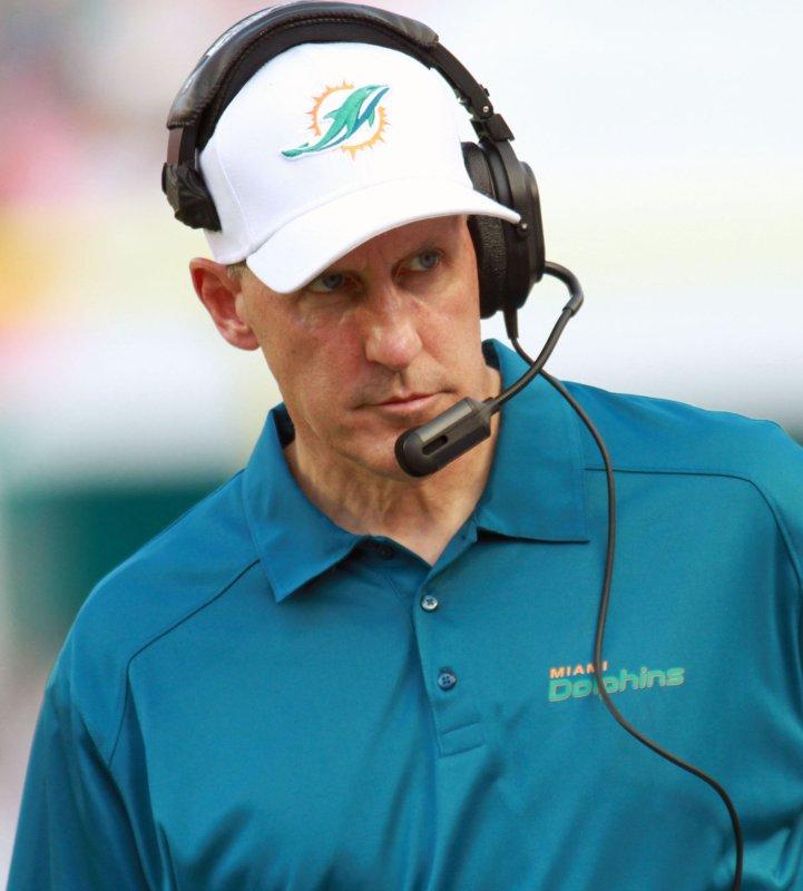 Former Miami Dolphins head coach Joe Philbin. UPI/Susan Knowles