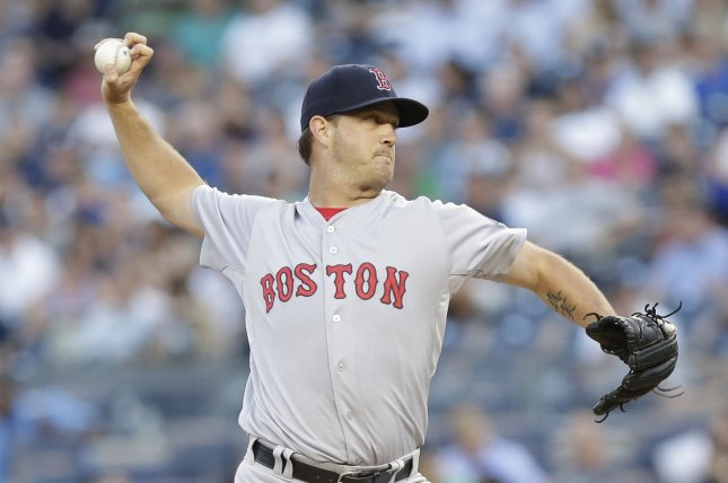 Boston Red Sox starting pitcher Steven Wright. Photo by John Angelillo/UPI