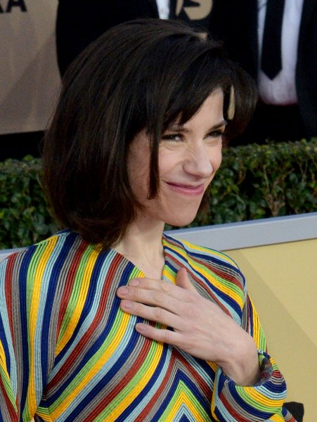 Sally Hawkins was nominated for an Oscar Tuesday for her work in The Shape of Water. She is seen here at the SAG Awards in Los Angeles on January 21. Photo by Jim Ruymen/UPI