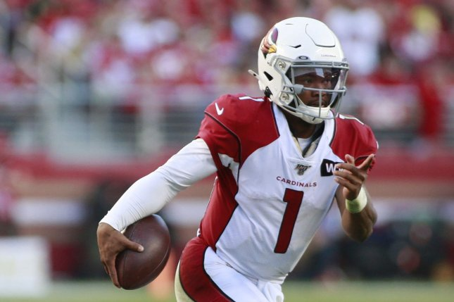 Arizona Cardinals quarterback Kyler Murray was the NFL's Offensive Rookie of the Year last season. File Photo by Bruce Gordon/UPI