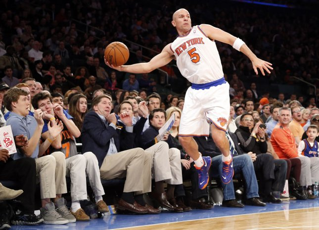 Jason Kidd (5), shown in a game in March, has been voted the NBA's Sportsmanship Award for a second consecutive season. UPI/John Angelillo