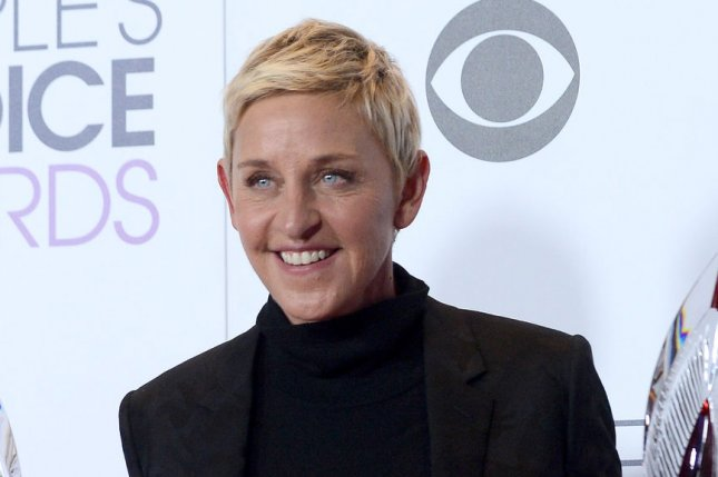 TV personality Ellen DeGeneres appears backstage with her award for Favorite Daytime TV Host during the 42nd annual People's Choice Awards at the Microsoft Theater in Los Angeles on January 6, 2016. Photo by Jim Ruymen/UPI
