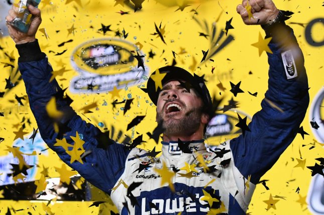 Jimmie Johnson is back racing after undergoing surgery for skin cancer. File photo By Gary I Rothstein/UPI