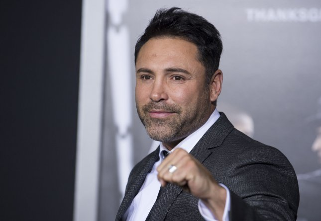 Oscar De La Hoya remains confident that he could fare well in the ring. Photo by Phil McCarten/UPI