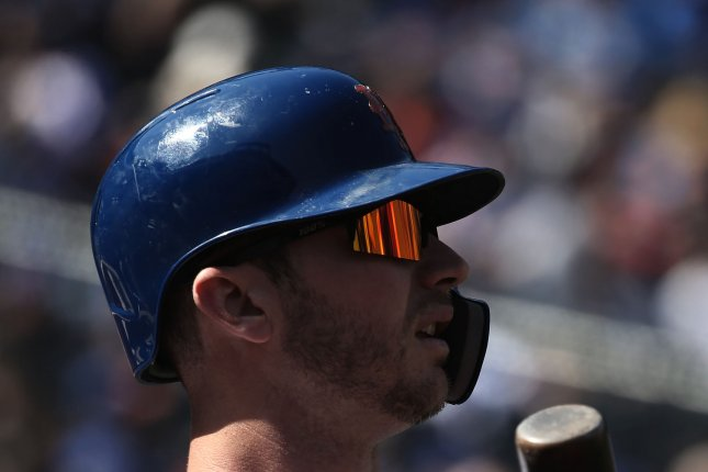 New York Mets first baseman Pete Alonso has 26 home runs this year. File Photo by Peter Foley/UPI