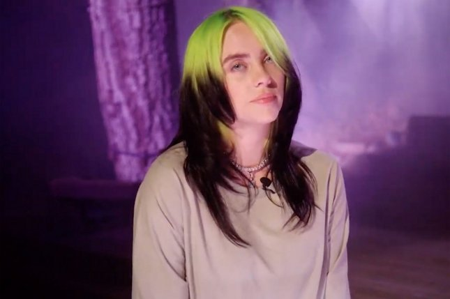 Billie Eilish's Happier Than Ever is No. 1 on the Billboard 200 album chart for a third week. File Photo by UPI