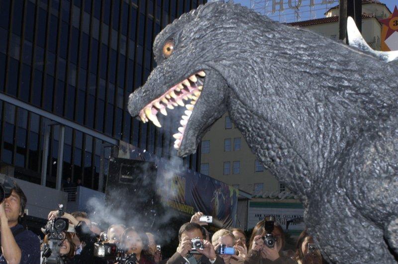 An older version of Godzilla (File/UPI Photo/Jim Ruymen)