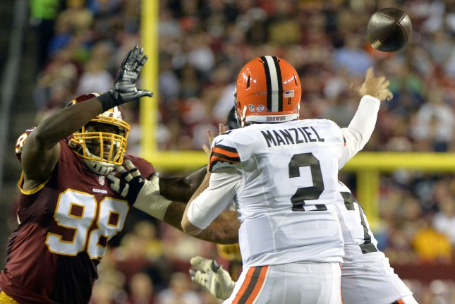 Cleveland Browns quarterback Johnny Manziel (2). UPI/Kevin Dietsch