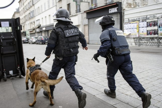 French police raid an apartment near Paris, France, in an operation aimed at capturing suspected mastermind of the Paris attacks, Belgian Abdelhamid Abaaoud. Monday, Belgian authorities said they rounded up more than 20 additional suspects in nearly 30 raids in and around Brussels over the weekend. Photo by Francis PELLIER/MI/DICOM//UPI..