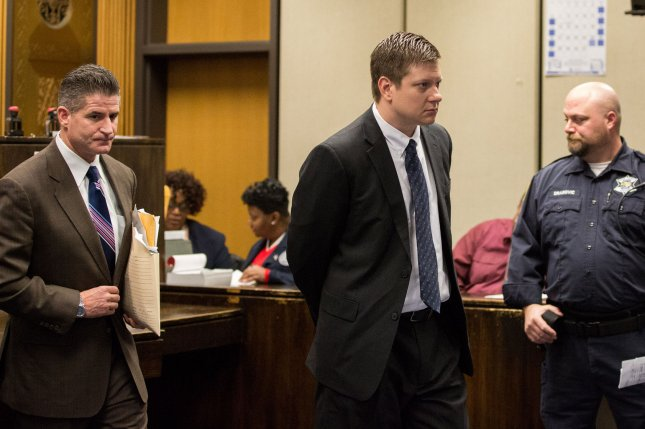 Chicago police officer Jason Van Dyke appeared in court to enter a plea of not guilty to first-degree murder in the shooting of Laquan McDonald. Earlier this year, the Chicago City Council agreed to a $5 million settlement with McDonald's family. Photo by Zbigniew Bzdak/UPI/Pool