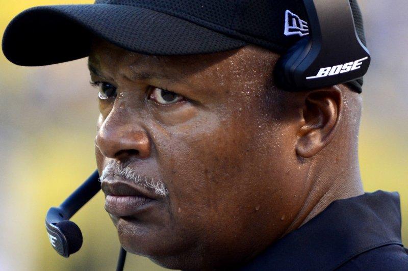 Detroit Lions head coach Jim Caldwell. Photo by Archie Carpenter/UPI