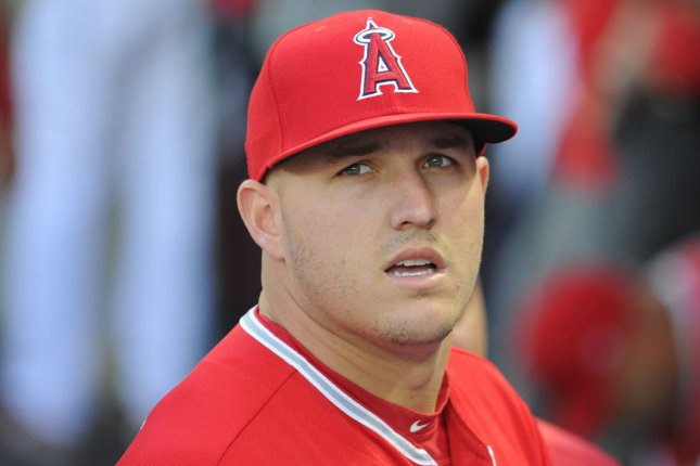 Los Angeles Angels' Mike Trout. Photo by Lori Shepler/UPI