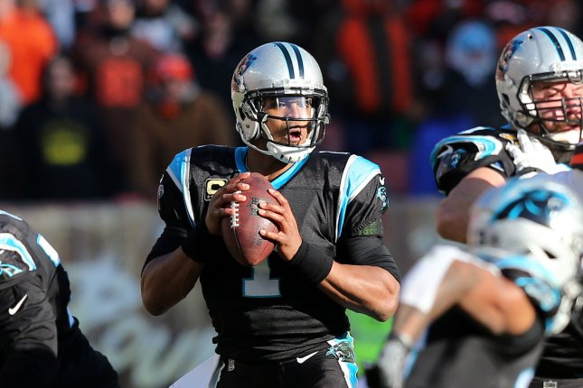 Carolina Panthers quarterback Cam Newton looks to pass against the Cleveland Browns in the second half at First Energy Stadium on December 91, 2018. Photo by Aaron Josefczyk/UPI