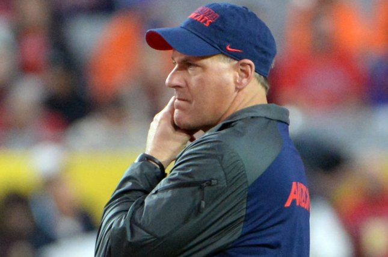 Former Arizona Wildcats head coach Rich Rodriguez. File photo by Art Foxall/UPI