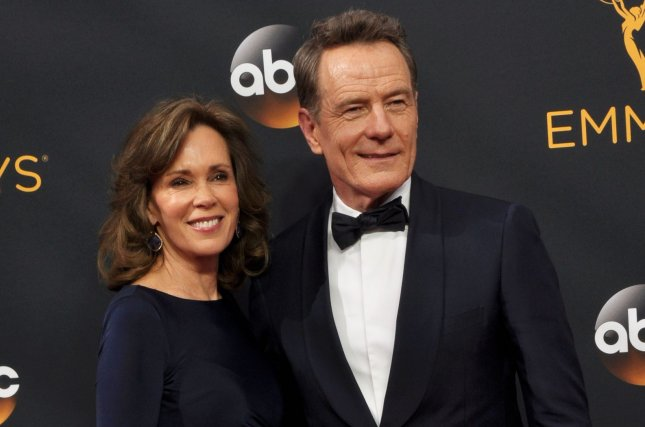 Robin Dearden (L) and Bryan Cranston arrive for the 68th annual Primetime Emmy Awards on September 18, 2016. Cranston detailed how he obtained the role of Walter White in Breaking Bad during a new interview on CBS This Morning File Photo by Christine Chew/UPI