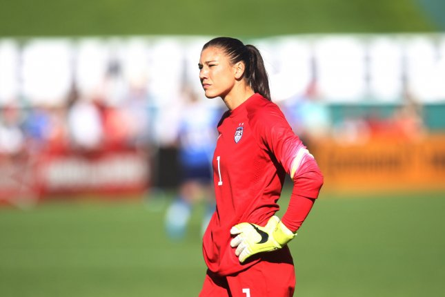 USA's goalkeeper Hope Solo announced her candidacy for USSF President Thursday on Facebook. File photo by Bill Greenblatt/UPI