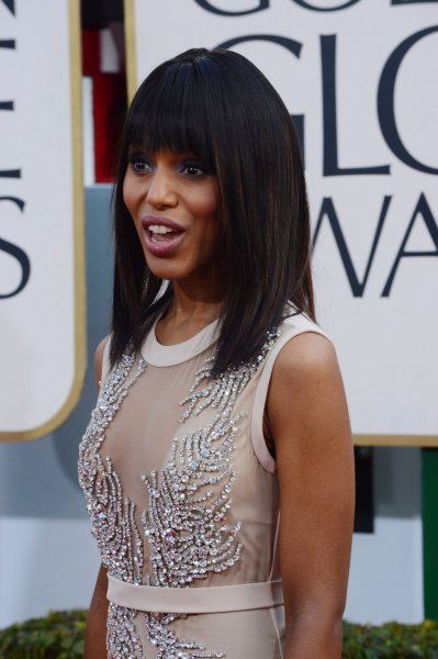 Actress Kerry Washington arrives for the 70th annual Golden Globe Awards held at the Beverly Hilton Hotel in Beverly Hills, California on on January 13, 2013. UPI/Jim Ruymen