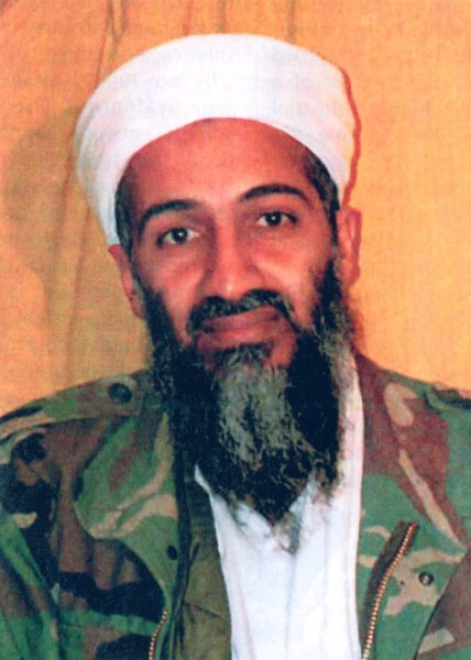 At 11.35 last night President Obama announced the United States has conducted an operation that killed Osama bin Laden, the leader of al Qaeda, and a terrorist who's responsible for the murder of thousands of innocent men, women, and children. in Washington, DC, on May 1, 2011. This picture of bin Laden was a government exhibit for the sentencing trial of Zacarias Moussaoui, a confessed al-Qaida conspirator for the 9/11 attacks on the World Trade Center and Pentagon, in April 2006. UPI/FILES