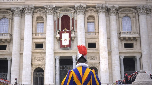 Pope Benedict XVI delivers the Urbi et Orbi (to the city and to the world) Christmas Day message from the central balcony of St. Peter's Basilica in Vatican City on December 25, 2012. UPI/Stefano Spaziani