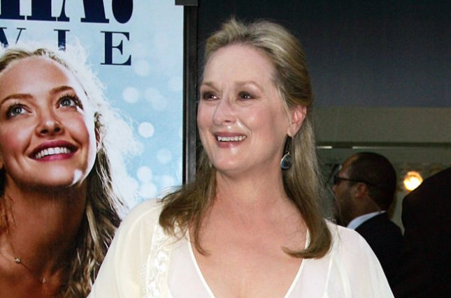 Meryl Streep arrives for the premiere of Mamma Mia in New York on July 16, 2008. A sequel is now in the works. File Photo by Laura Cavanaugh/UPI