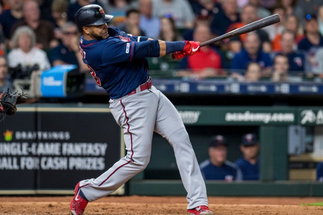 Nelson Cruz leads the Minnesota Twins with 40 home runs in 2019. The Twins are tied with the New York Yankees with a Major League Baseball record 299 homers on the season. File Photo by Trask Smith/UPI