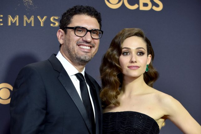Sam Esmail (pictured with Emmy Rossum) is executive producing The Resort for Peacock.File Photo by Christine Chew/UPI