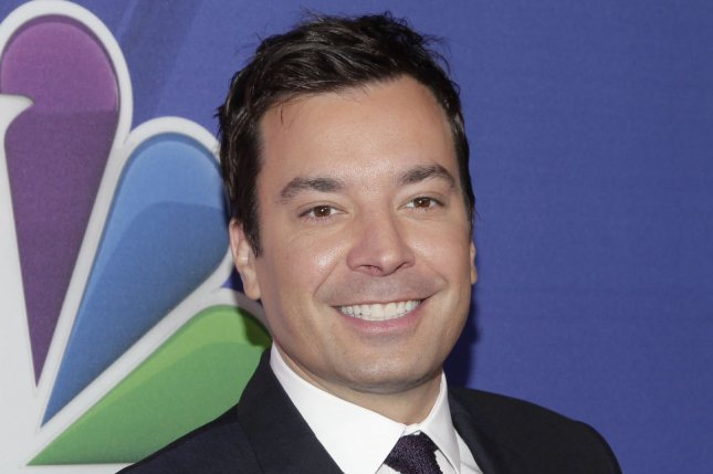 Jimmy Fallon arrives on the red carpet at NBC's Upfront Presentation at the Jacob Javitz Center in New York City on May 12, 2014. UPI/John Angelillo
