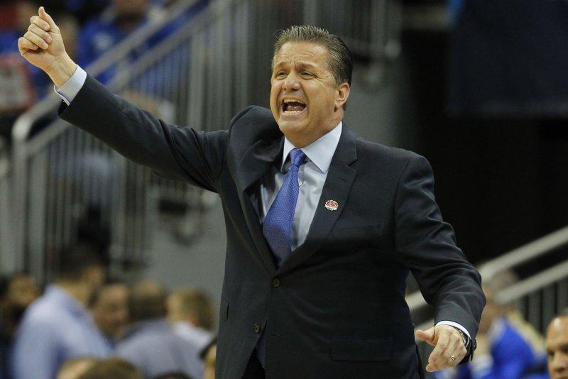 Kentucky Wildcats head coach John Calipari. Photo by John Sommers II/UPI