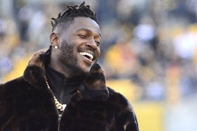 Former Pittsburgh Steelers wide receiver Antonio Brown led the NFL with 15 receiving touchdowns in 2018. File Photo by Archie Carpenter/UPI