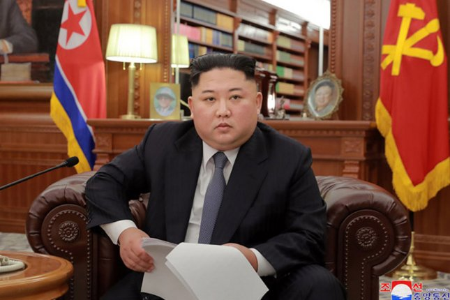North Korean leader Kim Jong Un said last week during the third plenary session of the eighth Central Committee of the Workers' Party that difficulties must be confronted to achieve national economic goals. File Photo by KCNA/UPI