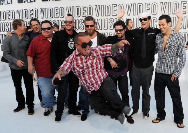 The cast of Jackass 3D arrives at the MTV Video Music Awards in Los Angeles on September 12, 2010 in Los Angeles. UPI/Jim Ruymen