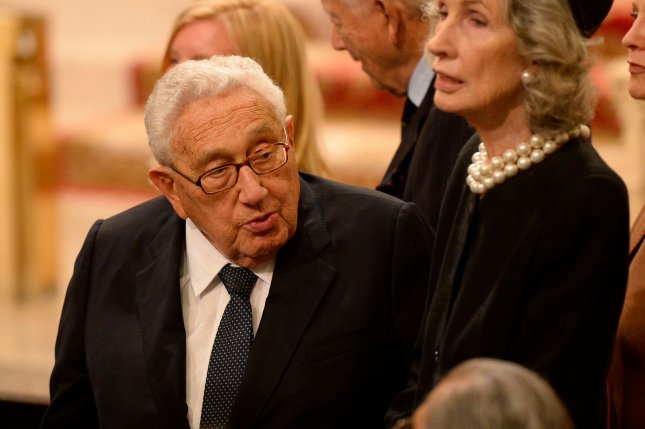 Former U.S. Secretary of State Henry Kissinger met with the Chinese president as uncertainty prevails in Beijing about the incoming Donald Trump administration. Pool photo by Robert Deutsch/UPI