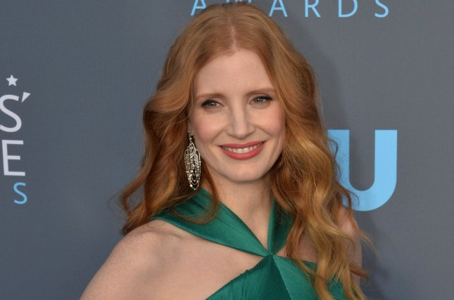 Actress Jessica Chastain was announced Wednesday as a presenter for Sunday's Golden Globe Awards ceremony. File Photo by Jim Ruymen/UPI