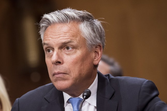 Huntsman is planning to leave the post in October. File Photo by Kevin Dietsch/UPI