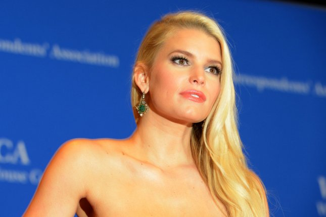 Jessica Simpson at the White House Correspondents' Association gala on May 3, 2014. The singer is working on new music. File Photo by Molly Riley/UPI