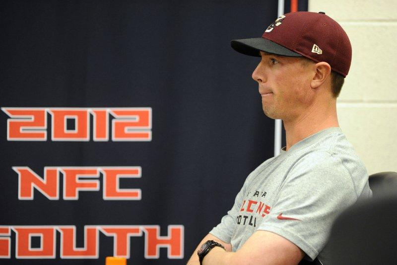 Atlanta Falcons quarterback Matt Ryan. UPI/David Tulis