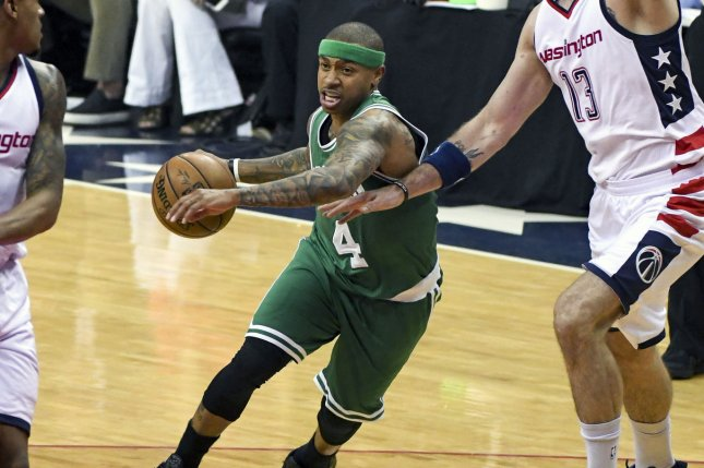 Irving's 42, LeBron's 34 push Cavs past Celtics in Game 4
