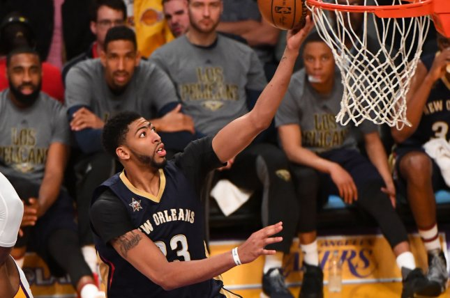 Los Angeles Lakers center Anthony Davis played for the New Orleans Pelicans from 2012 to 2019. File Photo by Jon SooHoo/UPI