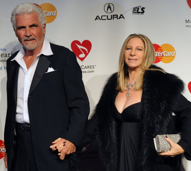 Barbra Streisand and her husband James Brolin arrive at the 2011 MusiCares Person of the Year tribute honoring her in Los Angeles February 11, 2011. UPI/Jim Ruymen
