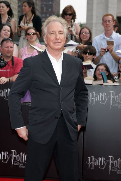 Alan Rickman arrives for the premiere of Harry Potter and the Deathly Hallows - Part 2 at Avery Fisher Hall, Lincoln Center in New York on July 11, 2011. UPI Photo/Laura Cavanaugh