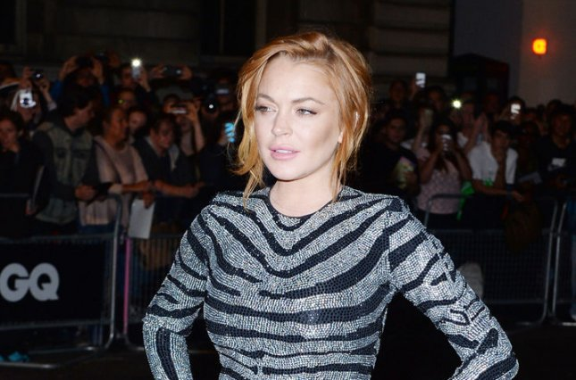 American actress Lindsay Lohan attends the GQ Men of the Year Awards in London on September 3, 2014. Lohan was among the celebrities who took to social media to express their opinions regarding the Brexit or the United Kingdom's decision Thursday to exit the European Union. File Photo by Rune Hellestad/UPI