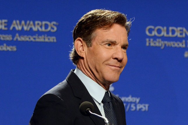 Dennis Quaid announces the Golden Globe Awards nominees on December 10, 2015. The actor is being linked to model Santa Auzina. File Photo by Jim Ruymen/UPI
