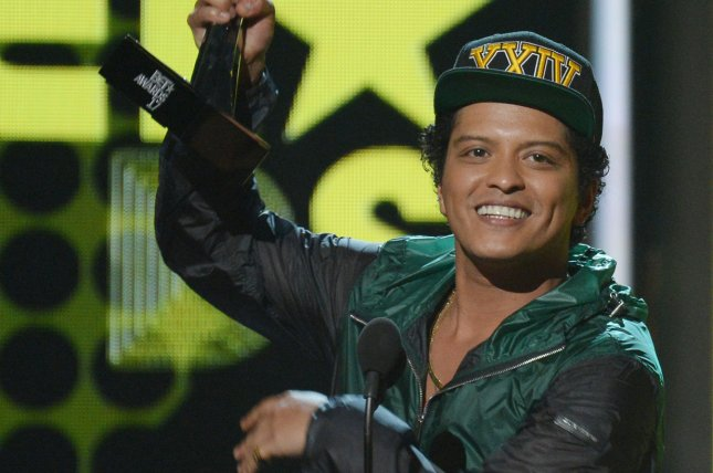Bruno Mars, seen here at the the 17th annual BET Awards, won five awards Sunday during the 2017 Soul Train Awards. SZA also won big taking home two awards. File Photo by Jim Ruymen/UPI