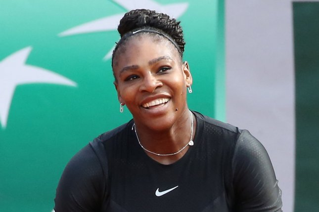 American Serena Williams reacts after a shot during her French Open women's first round match against Kristyna Pliskova of the Czech Republic on May 29 at Roland Garros in Paris. Photo by David Silpa/UPI