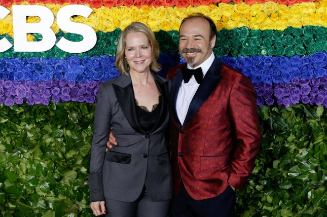 Rebecca Luker -- seen here with husband Danny Burstein in 2019 -- died at age 59.  File Photo by John Angelillo/UPI