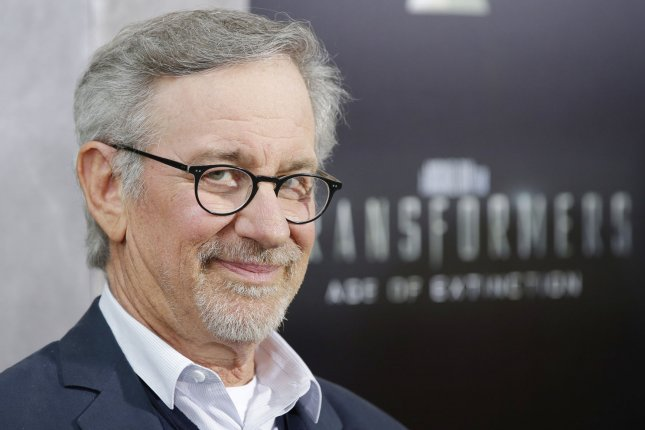Steven Spielberg arrives on the red carpet at the New York Premiere of 'Transformers: Age of Extinction' at the Ziegfeld Theatre in New York City on June 25, 2014. Photo by John Angelillo/UPI