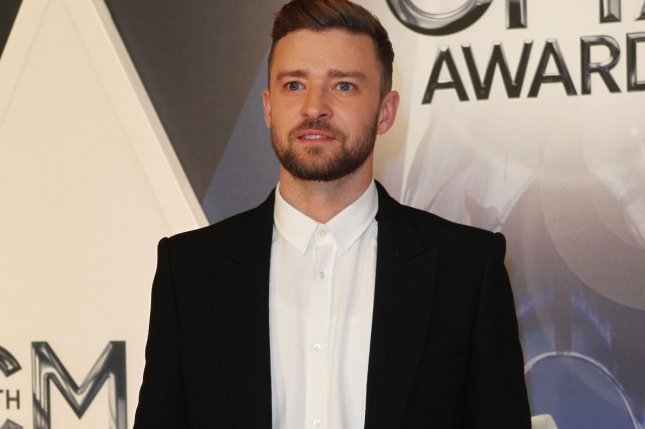Justin Timberlake arrives on the red carpet at the 2015 CMA Awards in Nashville on November 4, 2015. Timberlake will executive produce the music to be featured in the animated film, Trolls. File Photo by John Sommers II/UPI