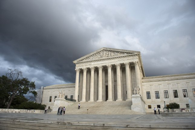 The U.S. Supreme Court ruled 5-3 Monday that racial prejudices that are part of jury deliberations in court cases can violate a defendant's Sixth Amendment right, which guarantees an impartial jury. Justices Samuel Alito, John Roberts and Clearance Thomas voted against the decision. File Photo by Kevin Dietsch/UPI