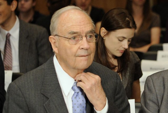Former Pennsylvania Sen. Harris Wofford died Monday, Martin Luther King Jr. Day, a national holiday that he helped bring into being. File Photo by Roger L. Wollenberg/UPI